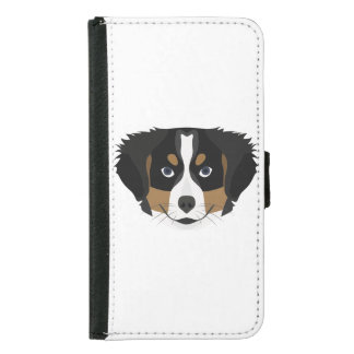 Illustration Bernese Mountain Dog Samsung Galaxy S5 Wallet Case