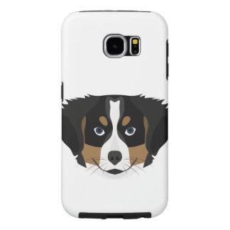 Illustration Bernese Mountain Dog Samsung Galaxy S6 Case