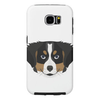 Illustration Bernese Mountain Dog Samsung Galaxy S6 Cases