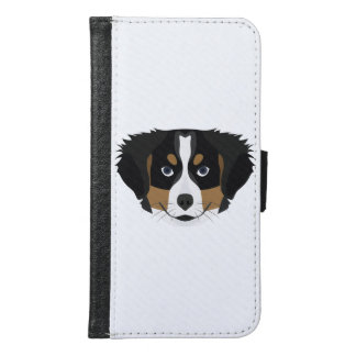 Illustration Bernese Mountain Dog Samsung Galaxy S6 Wallet Case