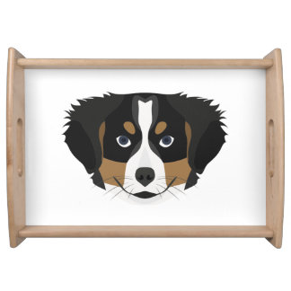 Illustration Bernese Mountain Dog Serving Tray
