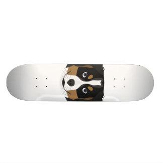 Illustration Bernese Mountain Dog Skate Board Deck