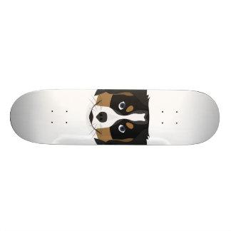 Illustration Bernese Mountain Dog Skateboards