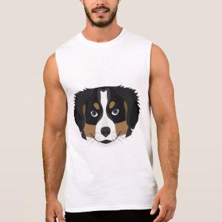 Illustration Bernese Mountain Dog Sleeveless Shirt