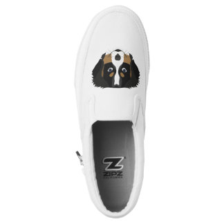 Illustration Bernese Mountain Dog Slip-On Sneakers