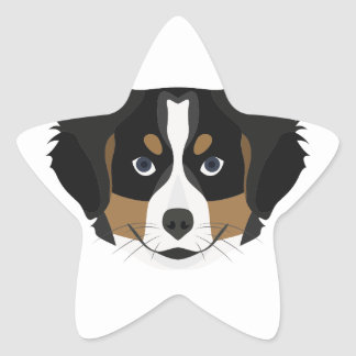 Illustration Bernese Mountain Dog Star Sticker