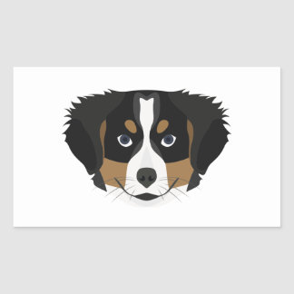 Illustration Bernese Mountain Dog Sticker