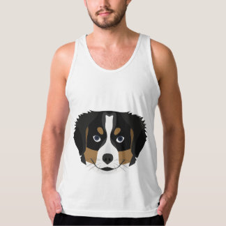 Illustration Bernese Mountain Dog Tank Top