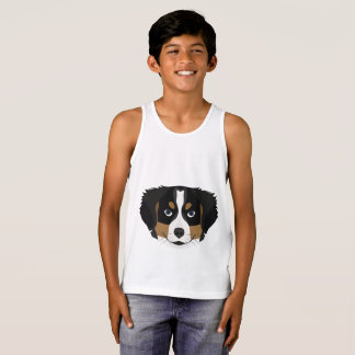 Illustration Bernese Mountain Dog Tank Top