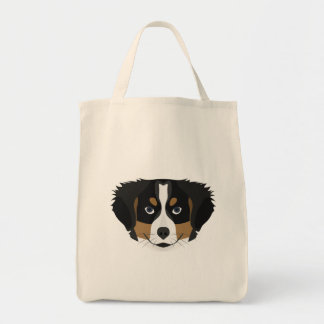 Illustration Bernese Mountain Dog Tote Bag