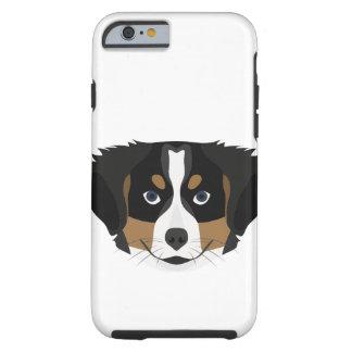 Illustration Bernese Mountain Dog Tough iPhone 6 Case