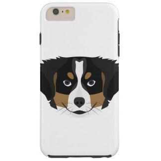 Illustration Bernese Mountain Dog Tough iPhone 6 Plus Case