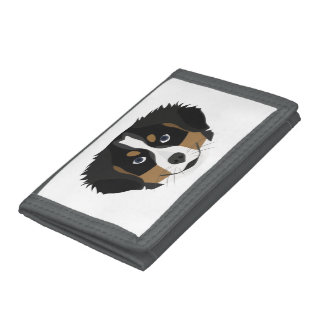 Illustration Bernese Mountain Dog Tri-fold Wallet