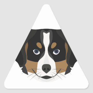 Illustration Bernese Mountain Dog Triangle Sticker