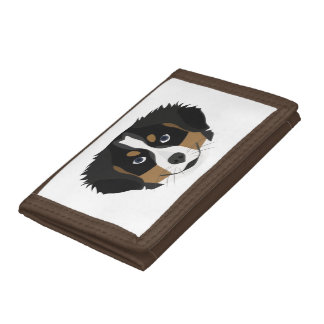 Illustration Bernese Mountain Dog Trifold Wallet