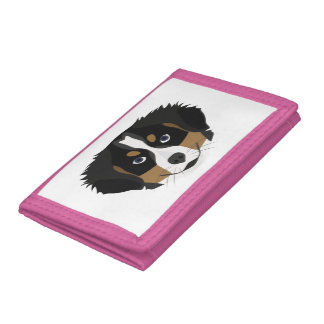 Illustration Bernese Mountain Dog Trifold Wallets