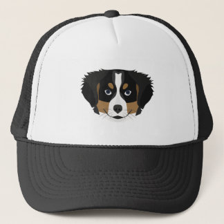 Illustration Bernese Mountain Dog Trucker Hat