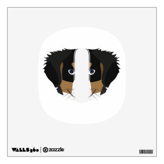 Illustration Bernese Mountain Dog Wall Decal