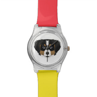 Illustration Bernese Mountain Dog Watch