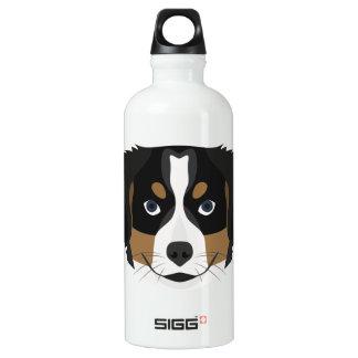 Illustration Bernese Mountain Dog Water Bottle