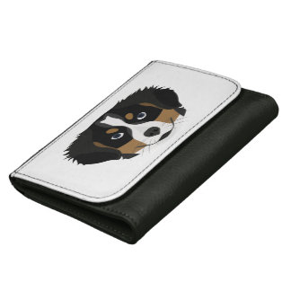 Illustration Bernese Mountain Dog Women's Wallets
