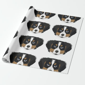 Illustration Bernese Mountain Dog Wrapping Paper