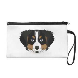 Illustration Bernese Mountain Dog Wristlet