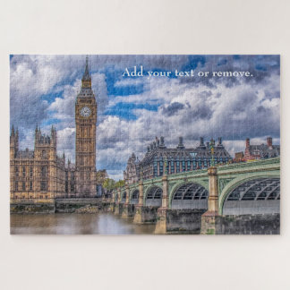 Illustration: Big Ben & Westminster Bridge, London Jigsaw Puzzle
