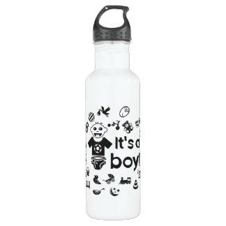 Illustration black IT'S A BOY! 710 Ml Water Bottle