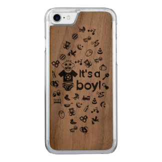 Illustration black IT'S A BOY! Carved iPhone 8/7 Case