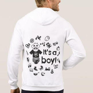 Illustration black IT'S A BOY! Hoodie