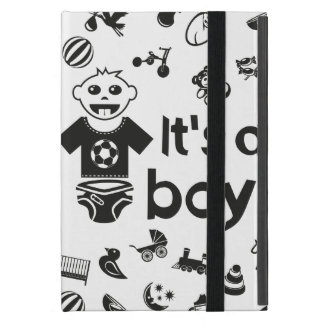 Illustration black IT'S A BOY! iPad Mini Cases
