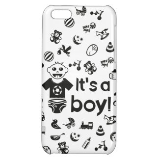 Illustration black IT'S A BOY! iPhone 5C Covers