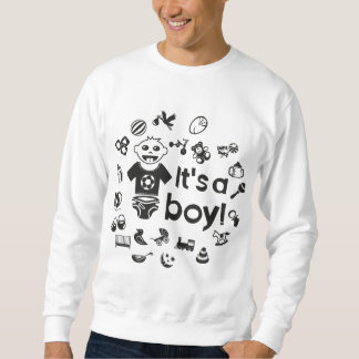 Illustration black IT'S A BOY! Sweatshirt