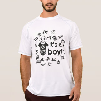 Illustration black IT'S A BOY! T-Shirt