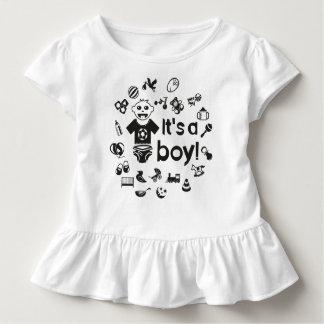 Illustration black IT'S A BOY! Toddler T-shirt