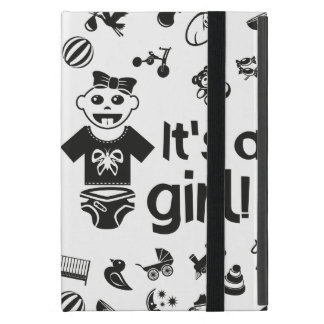 Illustration black IT'S A GIRL! Case For iPad Mini