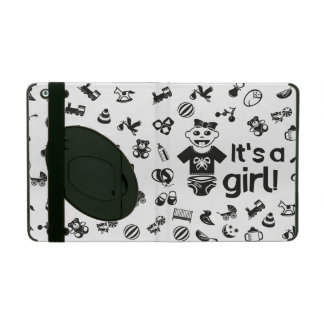 Illustration black IT'S A GIRL! Cases For iPad