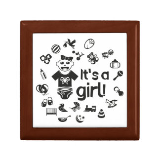 Illustration black IT'S A GIRL! Gift Box