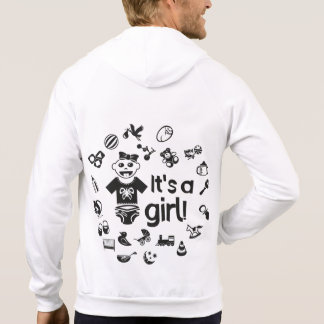 Illustration black IT'S A GIRL! Hoodie