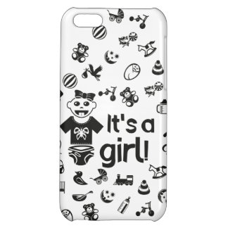 Illustration black IT'S A GIRL! iPhone 5C Cover