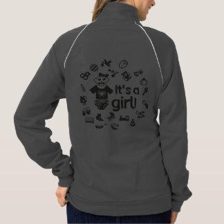 Illustration black IT'S A GIRL! Jacket