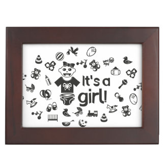 Illustration black IT'S A GIRL! Memory Boxes