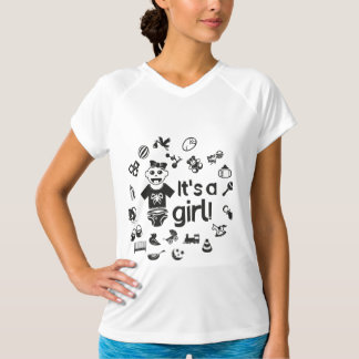 Illustration black IT'S A GIRL! T-Shirt