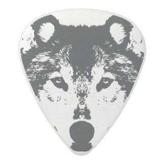 Illustration Black Wolf Acetal Guitar Pick