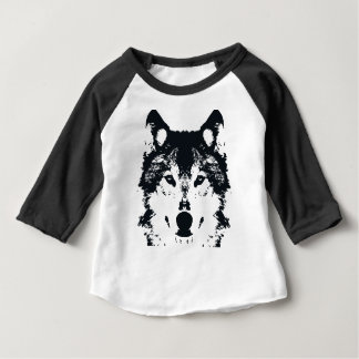 Illustration Black Wolf Baby T-Shirt