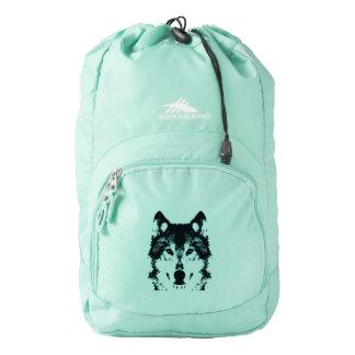 Illustration Black Wolf Backpack