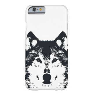 Illustration Black Wolf Barely There iPhone 6 Case