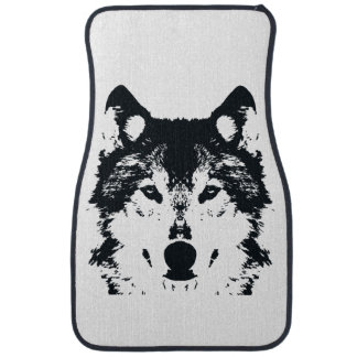 Illustration Black Wolf Car Mat