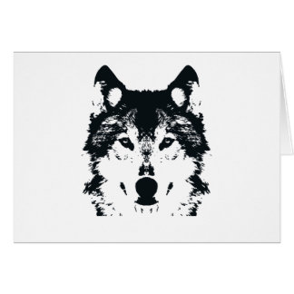 Illustration Black Wolf Card